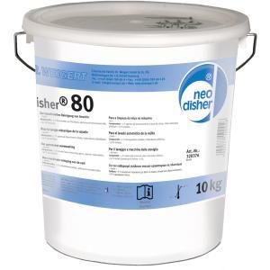 Dr. Weigert neodisher® 80 Intensiv-Geschirrreiniger Pulver, Alkalischer Geschirrspülmaschinenreiniger für Gastronomie, Hotels, Krankenhäuser, 10 kg - Eimer
