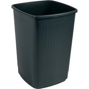 Bekaform Papierkorb, 50 Liter, anthrazit, Quadratischer Mülleimer aus Kunststoff, Farbe: anthrazit, Volumen: 50 Liter