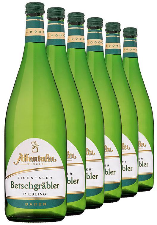Affentaler Winzer 2019 Eisentaler Betschgräbler Riesling 1L QbA (6 Flaschen)