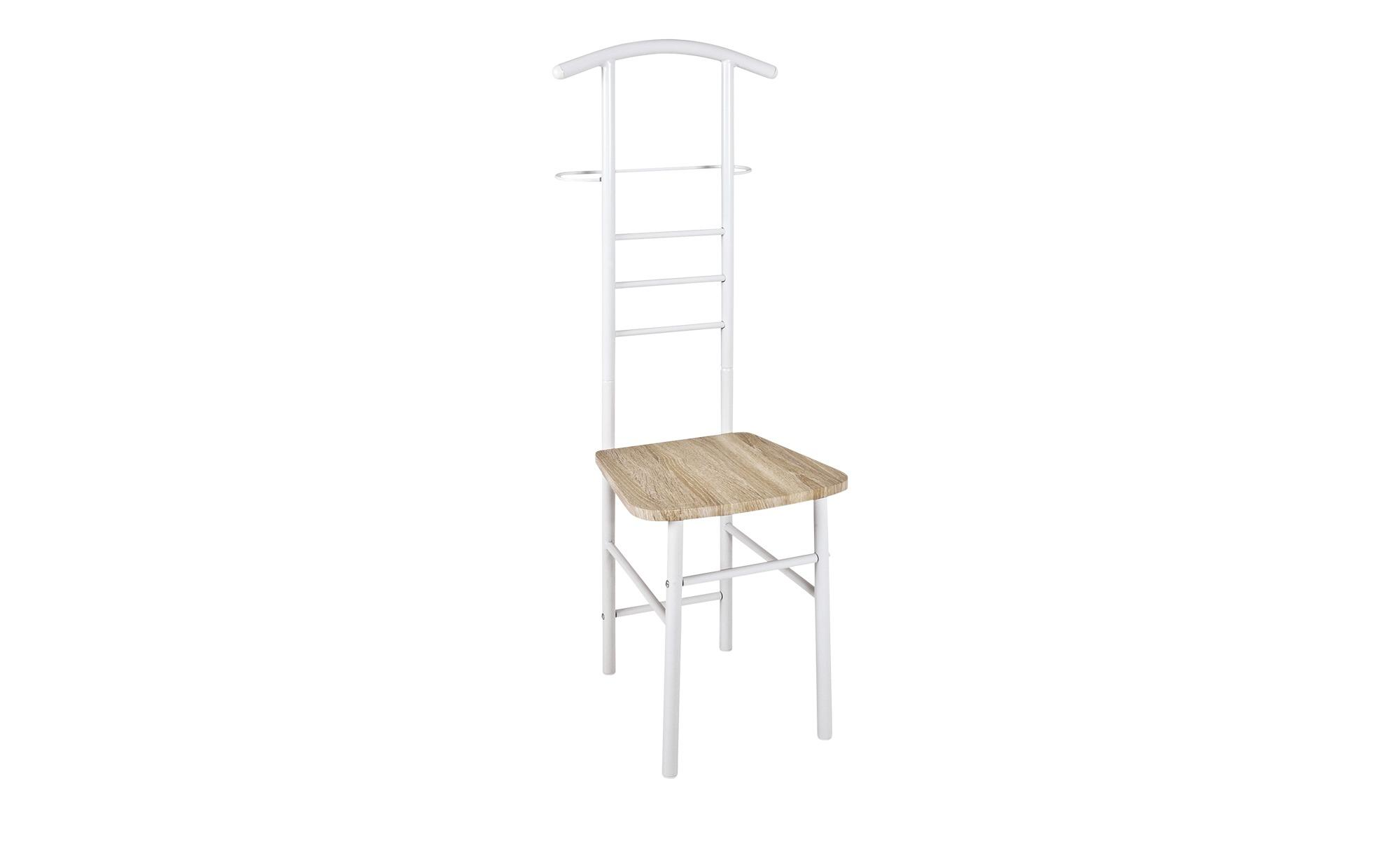 Herrendienerstuhl - weiß - Stahl - Möbel Kraft