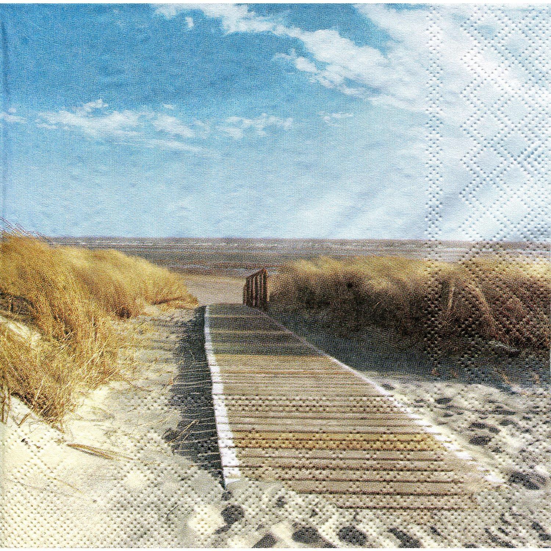"""Papierservietten """"Strand"""", 33 x 33 cm, 20 Stück"""