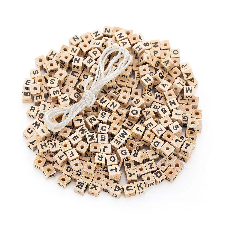 Buchstabenwürfel aus Holz, 8 mm, 300 Stück