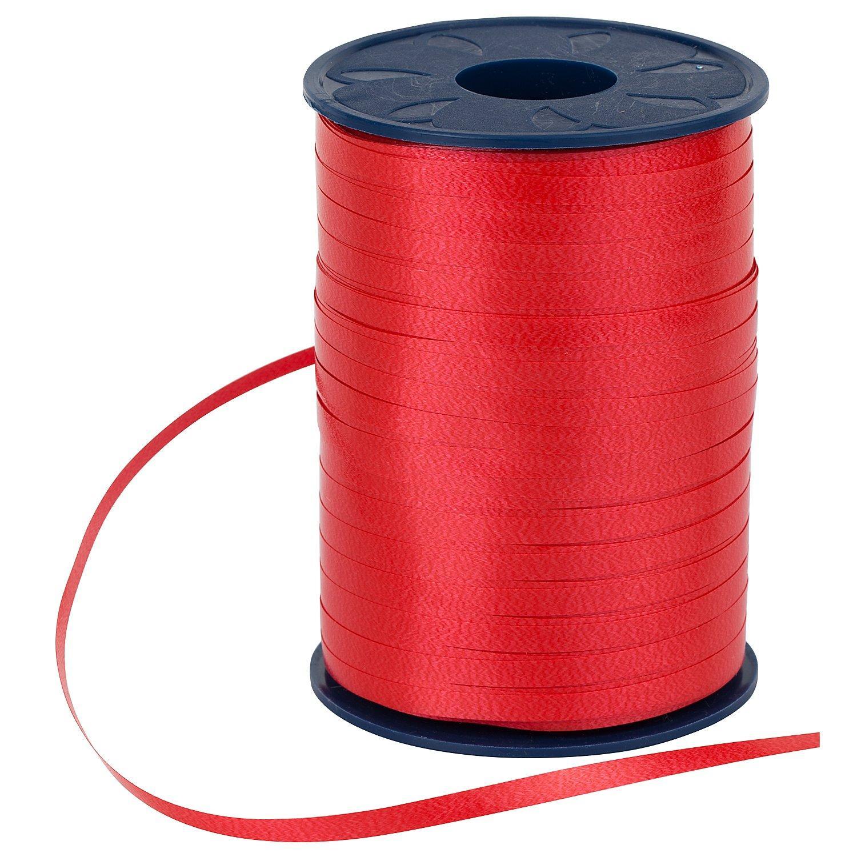 Geschenkband, rot, 5 mm, 500 m