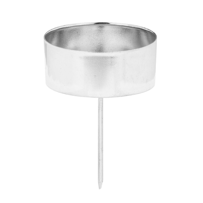 Kerzenhalter, silber, 4 cm Ø, 4 Stück