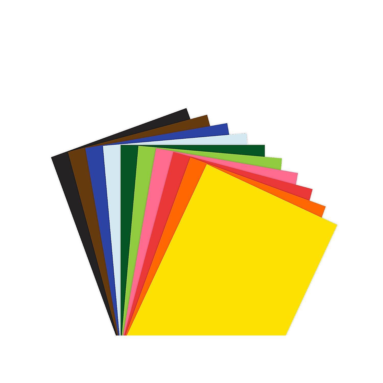 Tonzeichenpapier, bunt, 210 x 148 mm, 100 Blatt