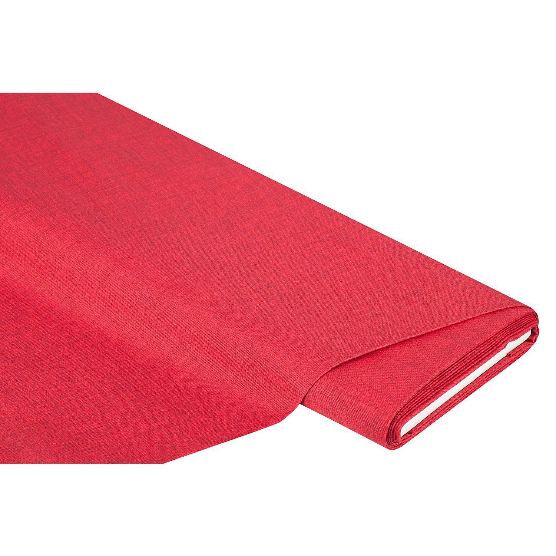 "Beschichtetes Baumwollmischgewebe ""Meran"" Uni, rot"