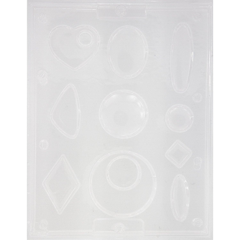 """Schmuck-Gießform """"Geometrisch"""", 2,5-7 cm, 10-teilig"""