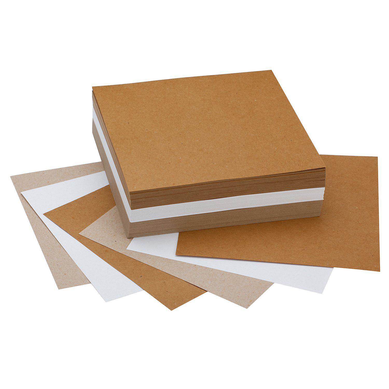 Faltblätter aus Recyclingpapier, 16 x 16 cm, 300 Blatt