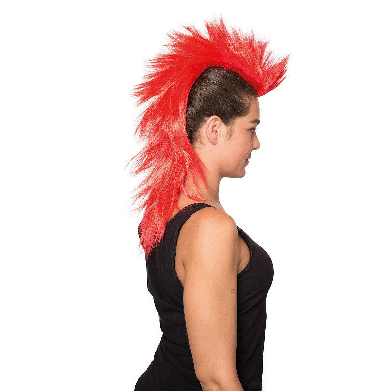 Irokesen-Haarteil, lang, rot