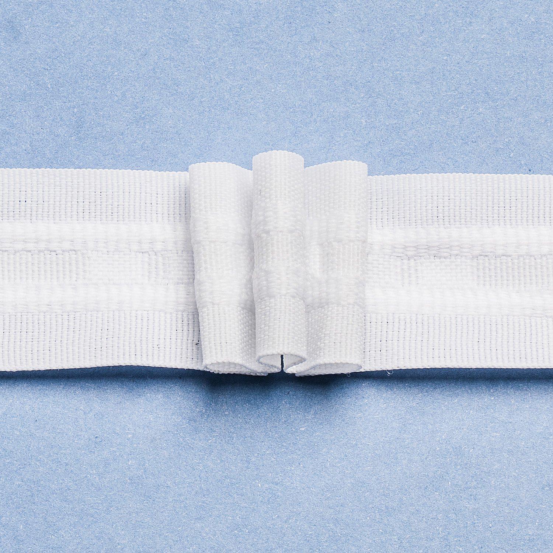 buttinette 3er-Faltenband, Breite: 2,6 cm, Länge: 10 m, Stoffverbrauch: 2,0:1