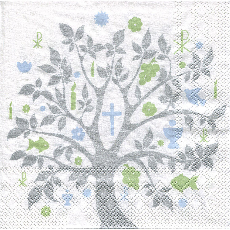 """Papierservietten """"Baum Kommunion"""