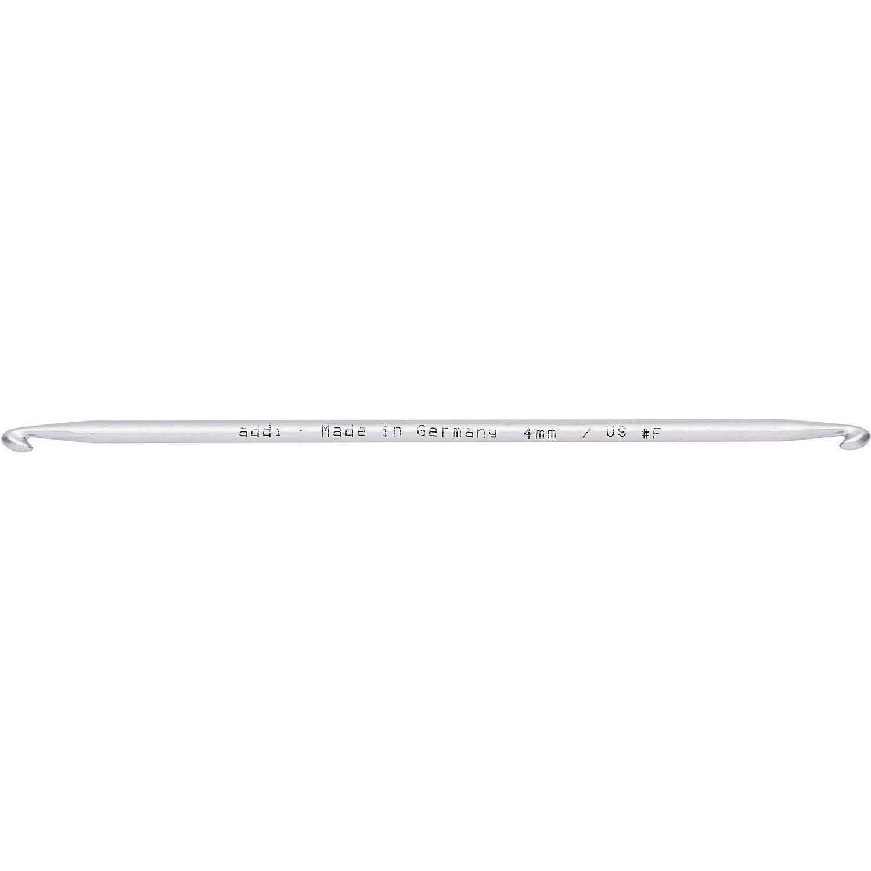 addi Tunesische Doppelhäkelnadel, Aluminium, Länge: 15 cm
