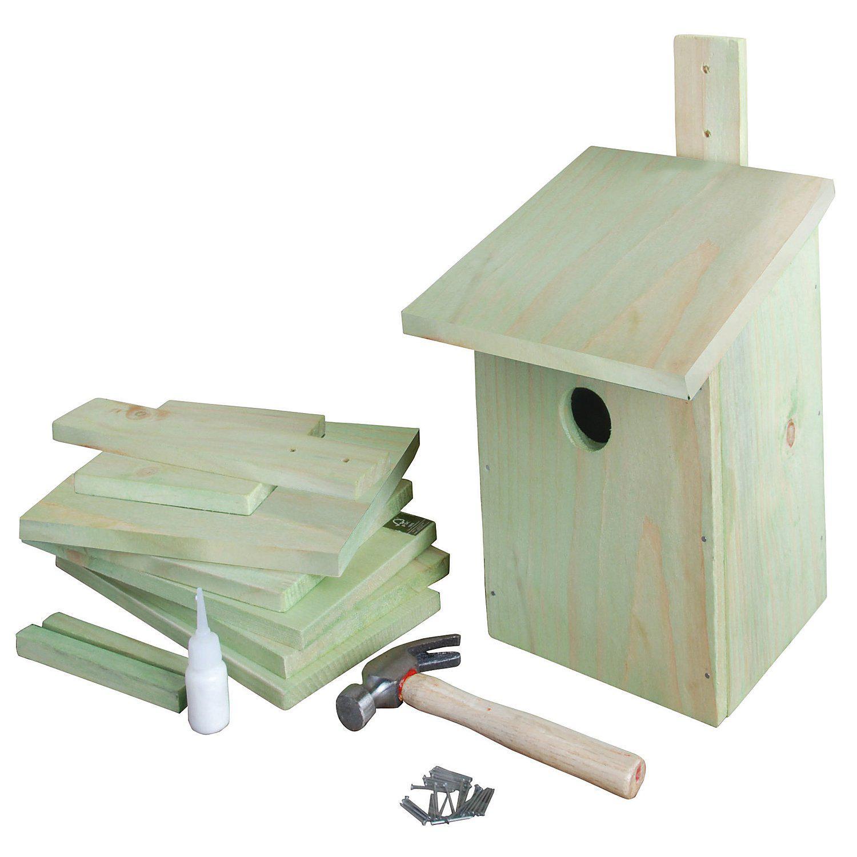 "Bastelset ""Nistkasten"" aus Holz, 16 x 20 x 24,5 cm"