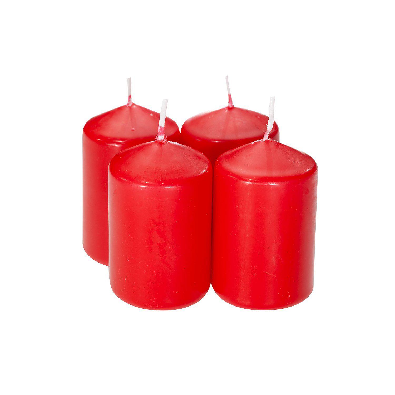Stumpenkerzen, 6 x 4 cm Ø, rot