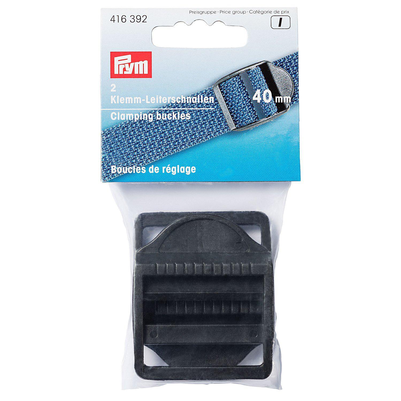Prym Klemm-Leiterschnallen für 40 mm Bänder, schwarz, 2 Stück