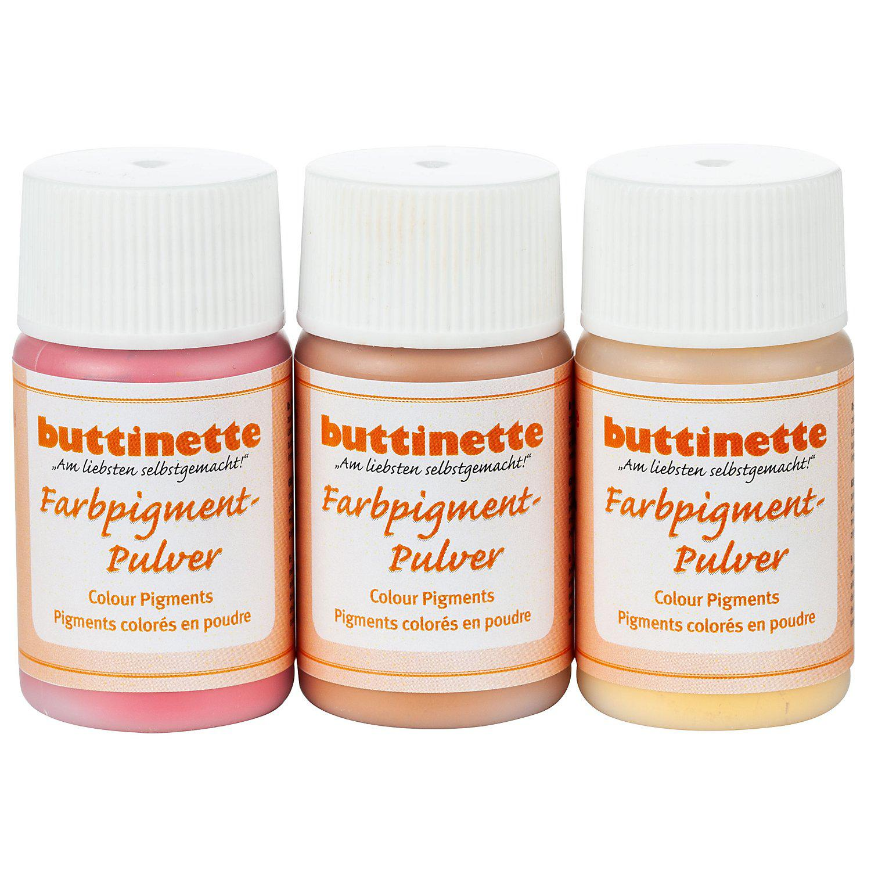 Farbpigment-Pulver, rottöne, 3 x 20 ml