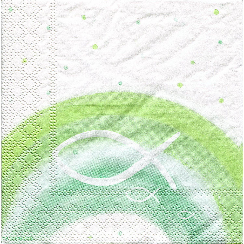 """Papierservietten """"Regenbogen/Grün"""", 33 x 33 cm, 20 Stück"""