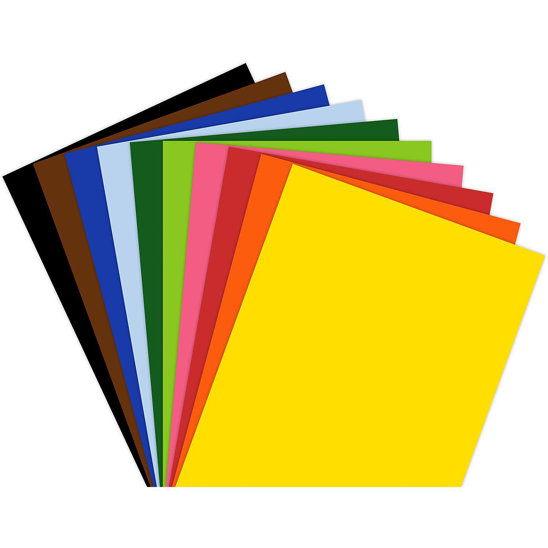 Tonzeichenpapier, bunt, 21 x 29,7 cm, 250 Blatt