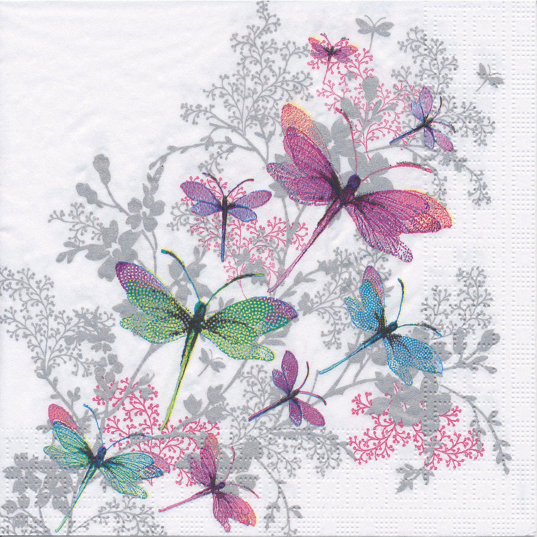 """Papierservietten """"Libelle"""", 33 x 33 cm, 20 Stück"""
