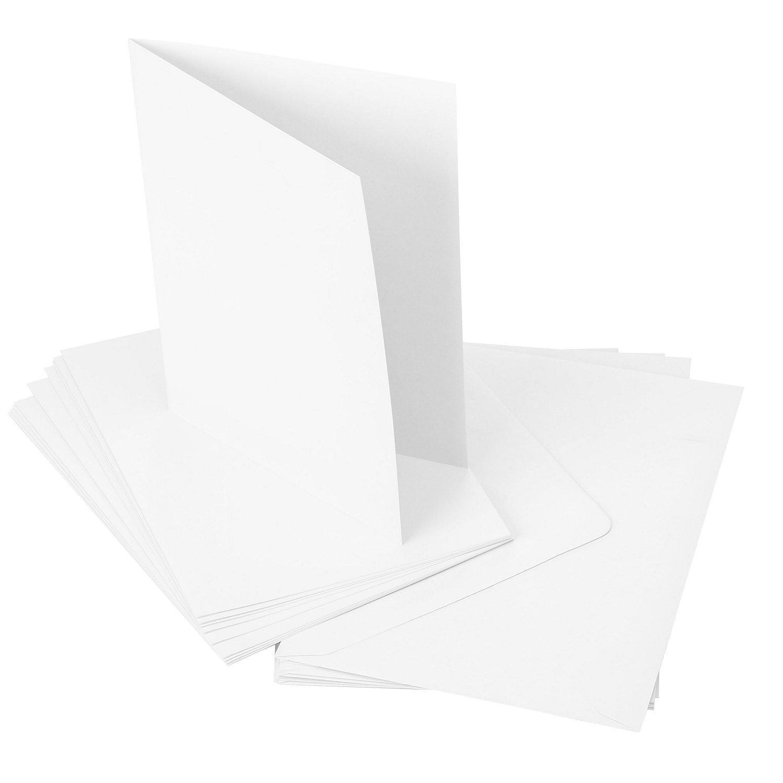 Doppelkartenset, weiß, A5 / C5, je 20 Stück