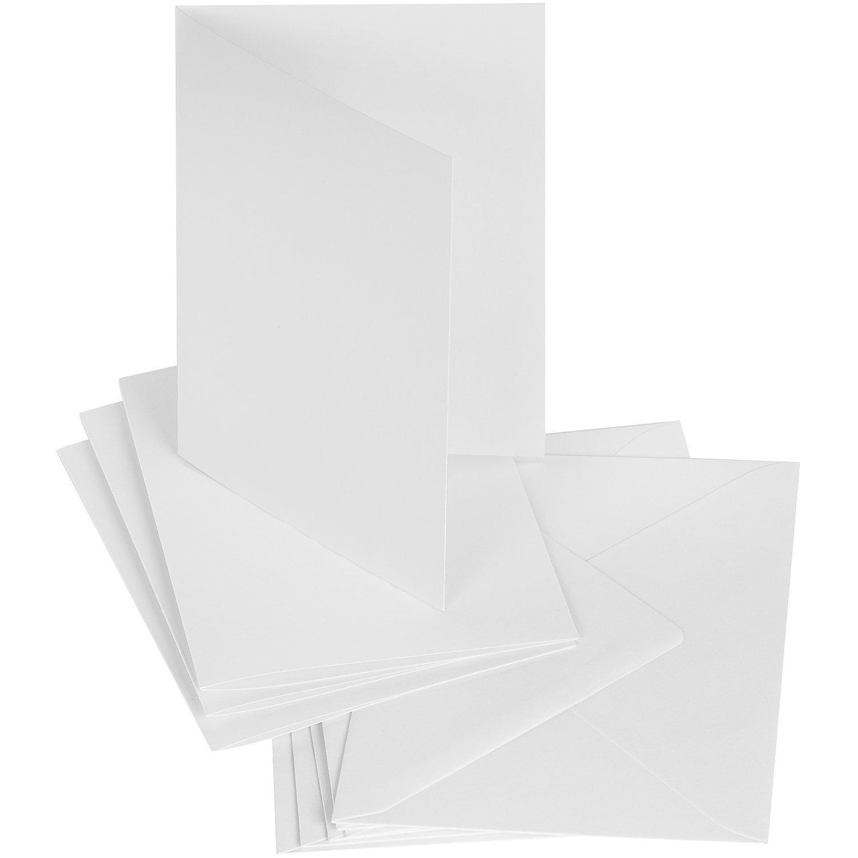 Doppelkartenset, weiß, A6 / C6, je 50 Stück