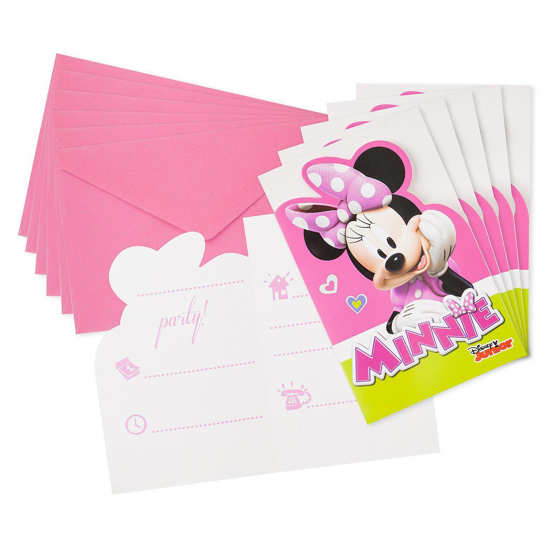 """Einladung """"Minnie"""", 6 Stück"""