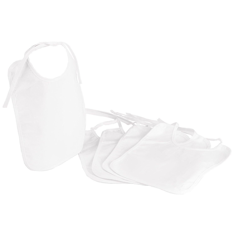 Lätzchen für Kinder, weiß, 20 x 25 cm, 5 Stück