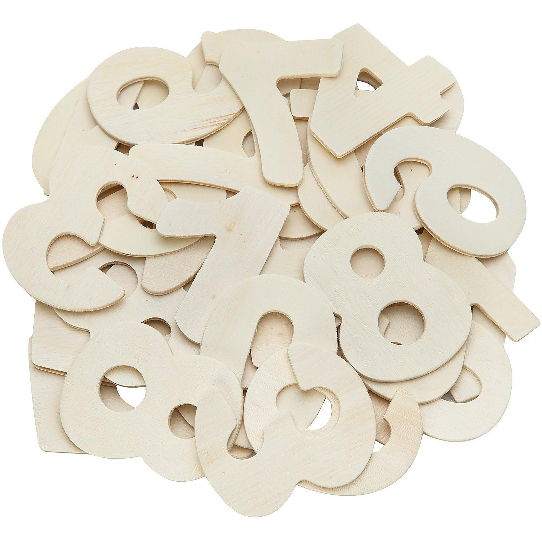 Zahlen aus Holz, 6 cm, 40 Stück