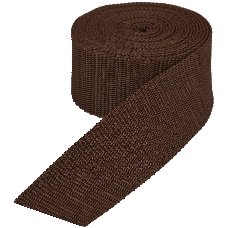 buttinette Taschengurtband, braun, Breite: 4 cm, Länge: 3 m