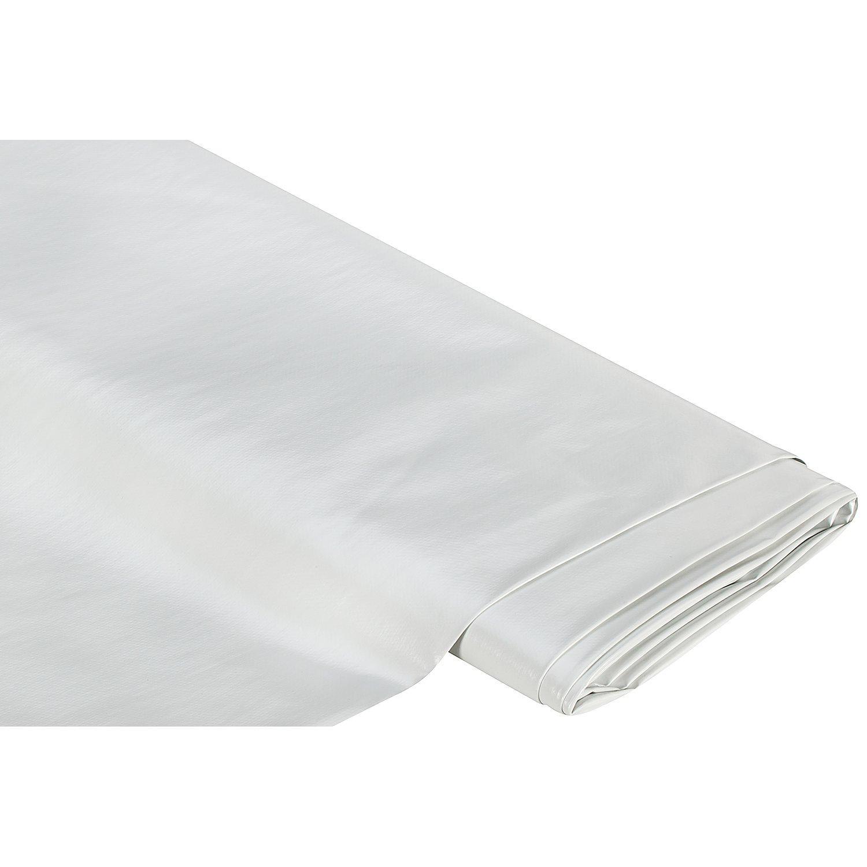 Abwaschbare Tischwäsche - Wachstuch Uni, weiß