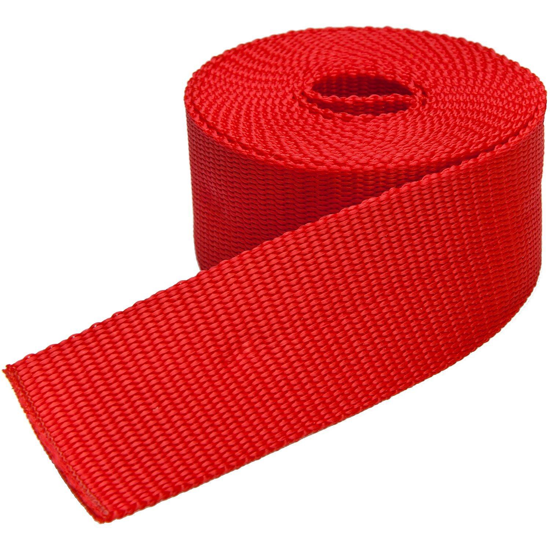 buttinette Taschengurtband, rot, Breite: 4 cm, Länge: 3 m
