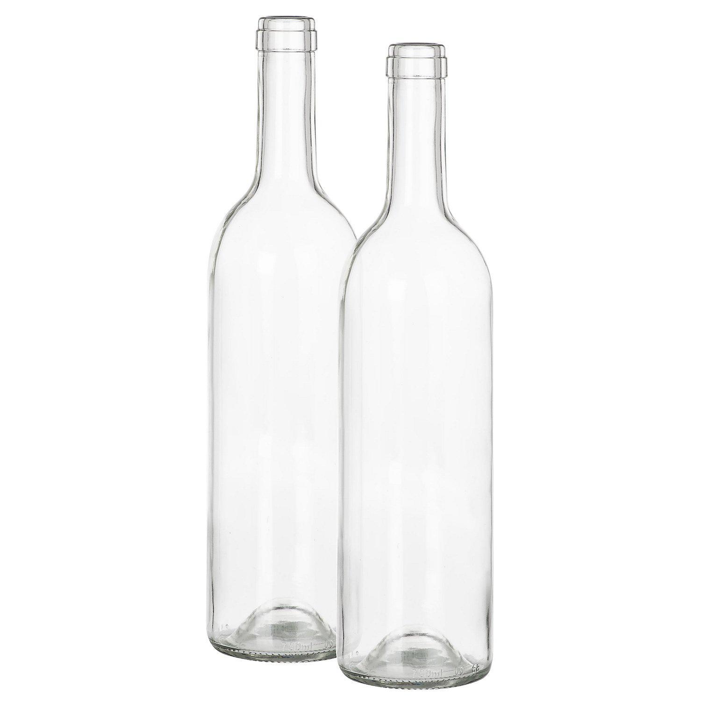 Deko-Glasflaschen, 31,5 cm, 7,5 cm Ø, 2 Stück