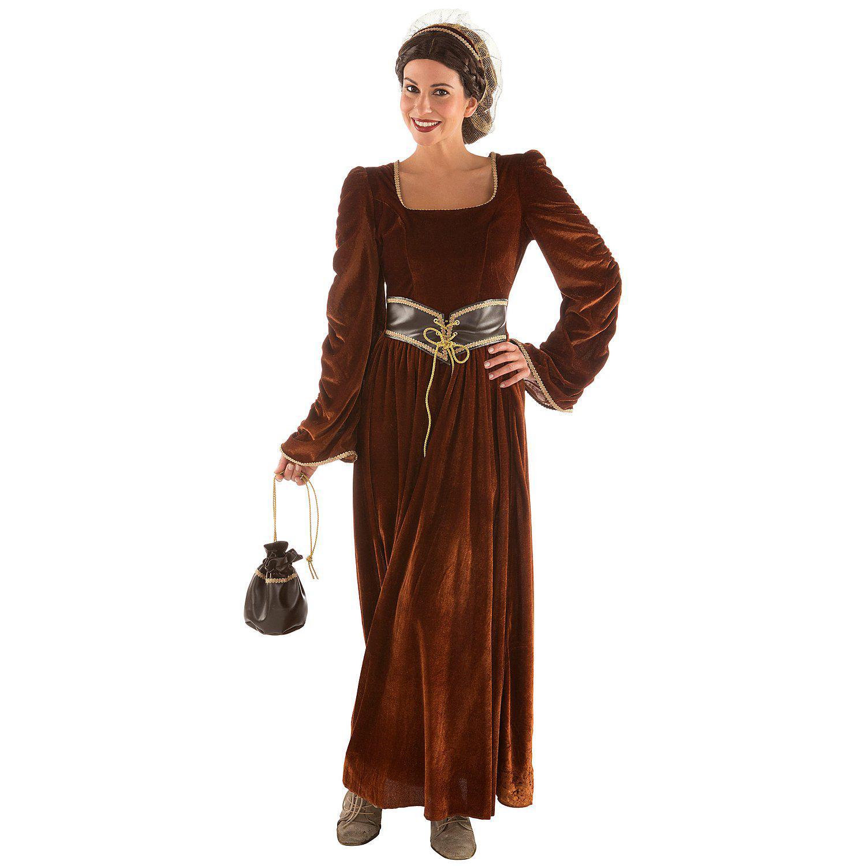 buttinette Burgfräulein Kostüm, braun