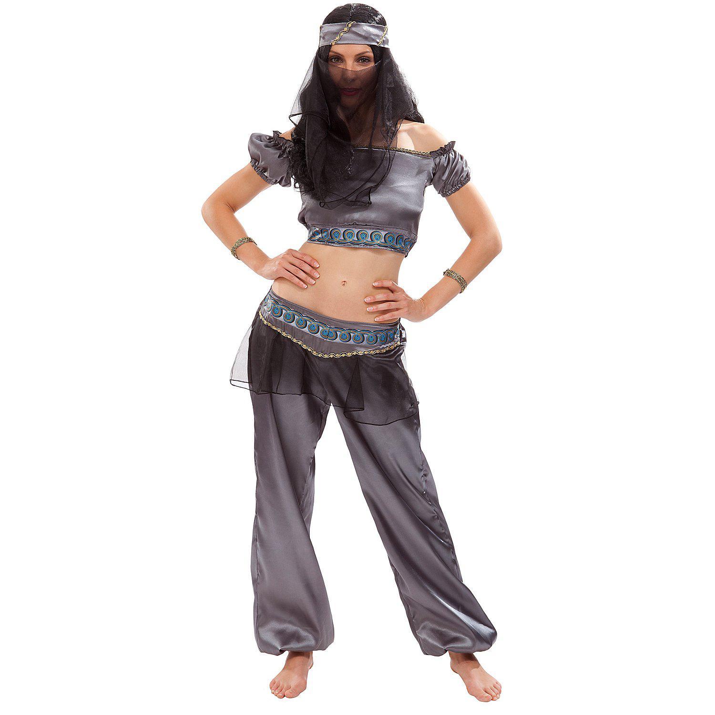 Kostüm Bauchtänzerin, grau