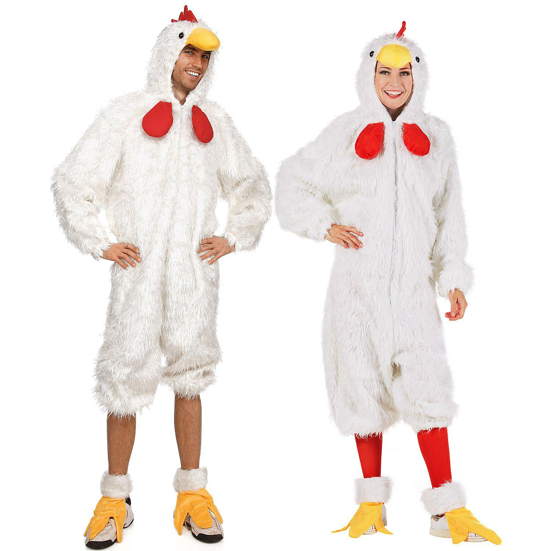 Hühnerkostüm für SIE und IHN, weiß