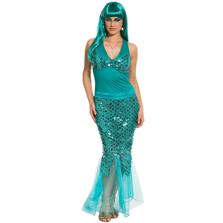 Meerjungfrau Kostüm, petrol