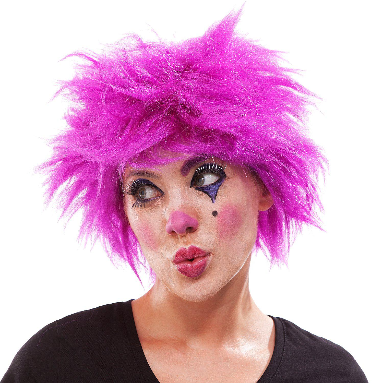 Clown Perücke, lila