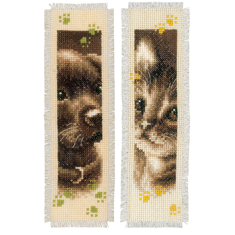 """Lesezeichen """"Welpe und Kätzchen"""