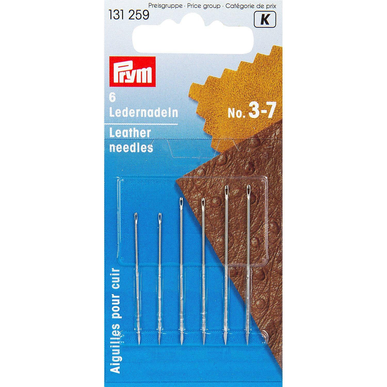 Prym Ledernadeln, Stärke: 0,70 - 0,90 mm, Länge: 36 - 43 mm, Inhalt: 6 Stück