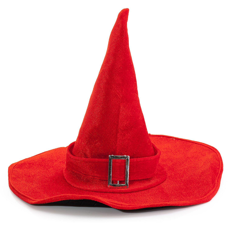 Hexenhut für Erwachsene, rot