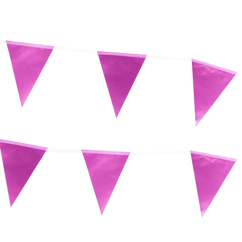 "Wimpelkette ""Metallic"", pink, 6 m"