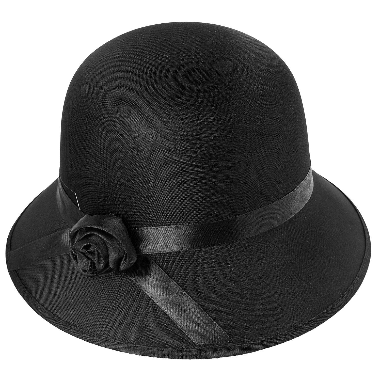 Cloche Hut, schwarz