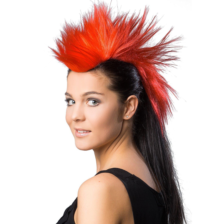 Irokesen-Haarteil, rot