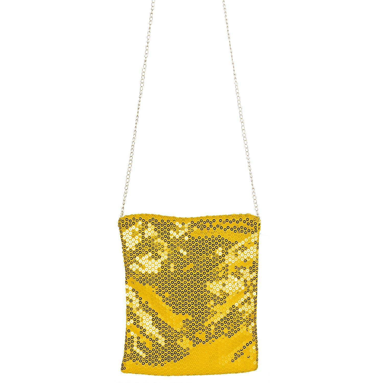 Tasche Pailletten, gold