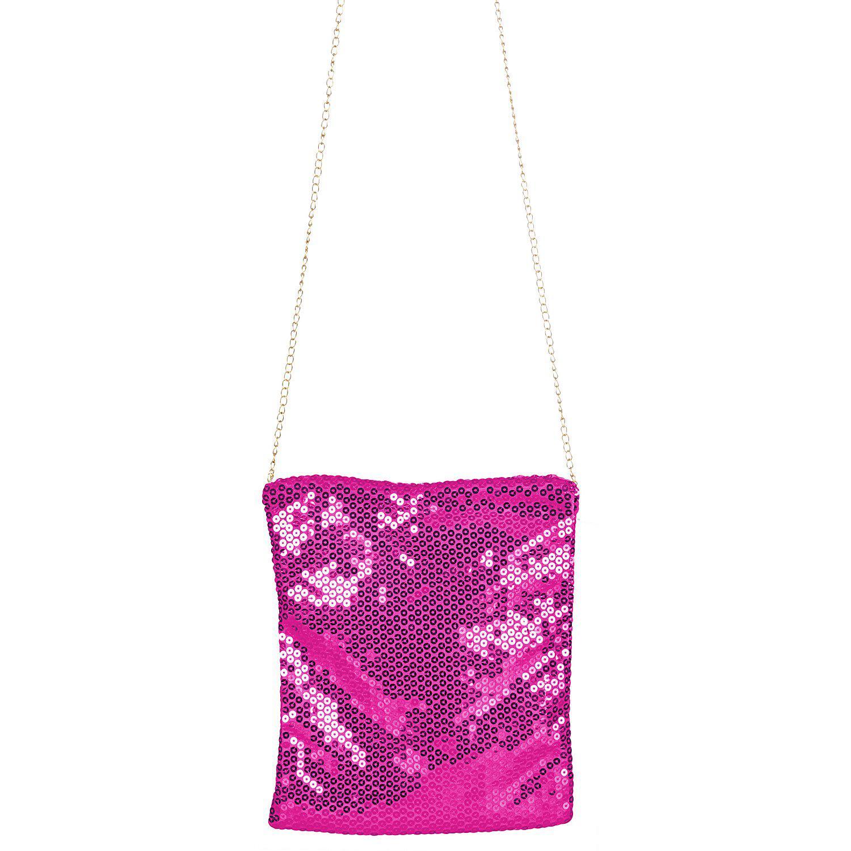 Tasche Pailletten, pink