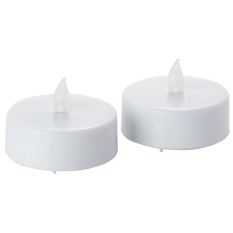 LED Maxi-Teelichter, mit Timer, 6 cm Ø, 2 Stück