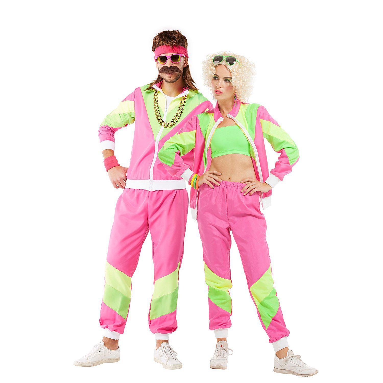 Trainingsanzug 80er Jahre, pink