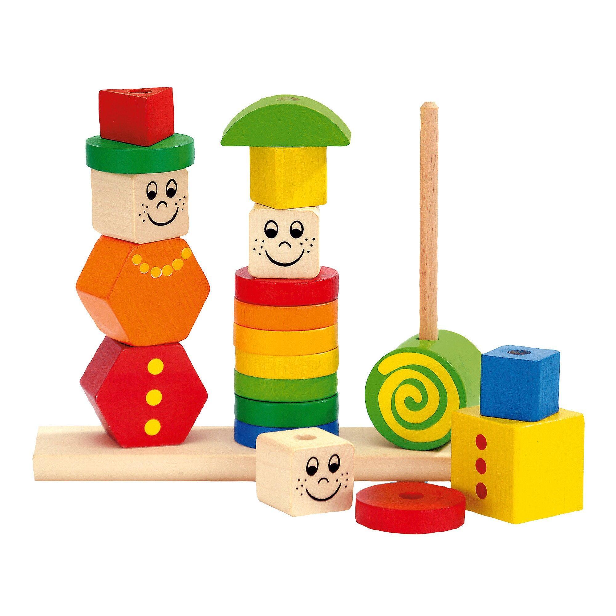 Steckpuzzle Figuren aus Holz