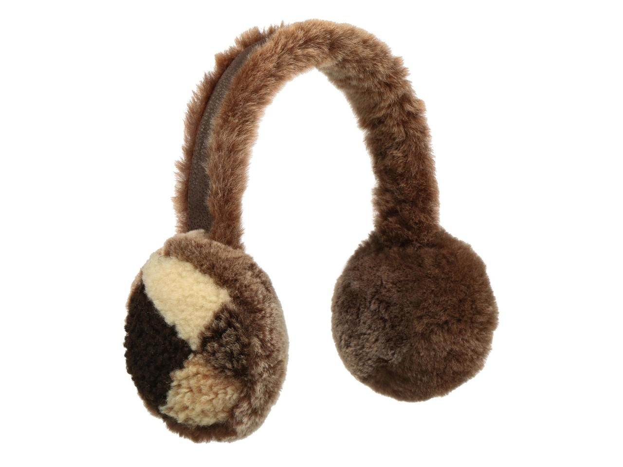 Stetson Earmuff Patchwork Flauschige Ohrenschützer, Braun (67) One Size