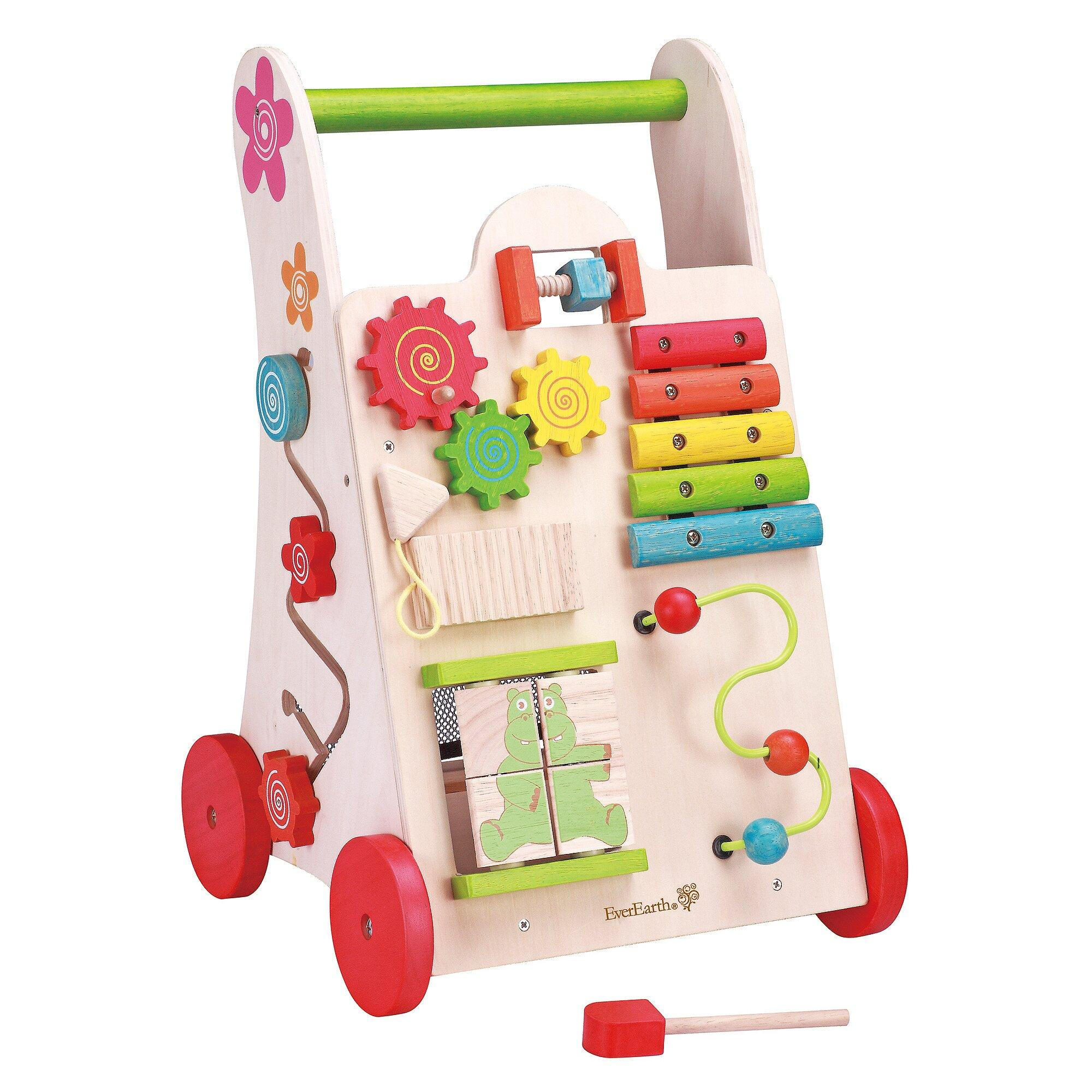 Lauflernwagen Spielzeug 2-in-1 aus Holz